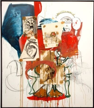 George Condo, 'Scattered Bum Heads', 1990