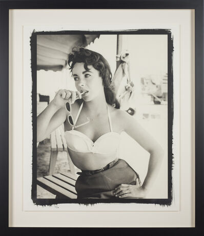 Frank Worth, 'Elisabeth Taylor with bustier No.2 on set of 'Giant'', 1955