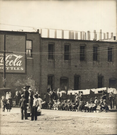Walker Evans, 'Steel Mill Workers, Birmingham, Alabama', 1936