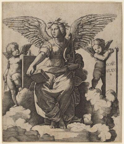 Marcantonio Raimondi after Raphael, 'Poetry'
