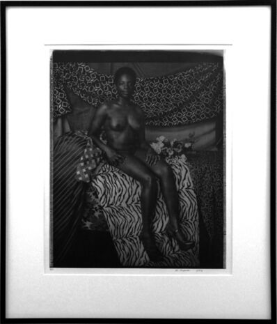 Mickalene Thomas, 'Portrait of Marie Sitting in Black and White', 2012