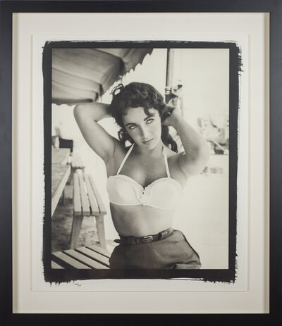 Frank Worth, 'Elisabeth Taylor with Bustier no.1 on set of  'Giant'', 1955