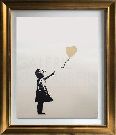 Banksy, 'Girl with Balloon - Colour AP (Gold)', 2004