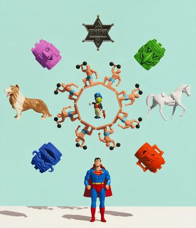 Chris Cosnowski, 'Superman Mandala (Might & Main)', 2018