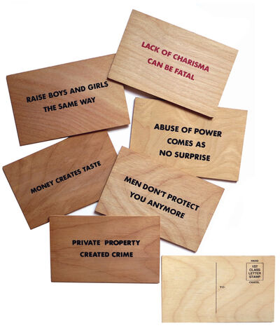 Jenny Holzer, '6 postcards with Truisms from Holzer's Truisms series (1977-1979) and Survival series (1983-1985)'