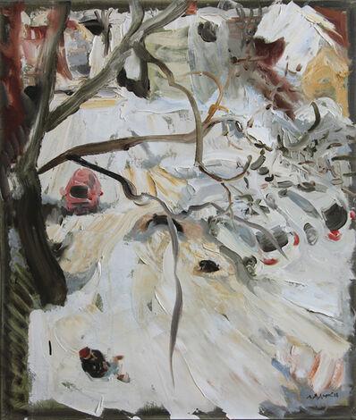 Natalia Laluq, 'Backyard to Cooper Street and Woman Smoking, December 19, 2016', 2016