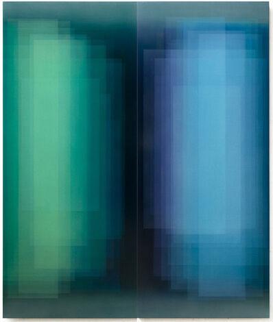 Bernadette Jiyong Frank, 'Duality (Green & Blue Diptych)', 2018