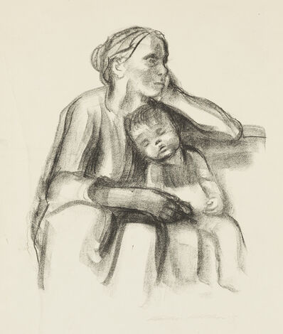 Käthe Kollwitz, 'Arbeiterfrau mit Schlafendem Jungen [Working Woman with Sleeping Boy]', 1927