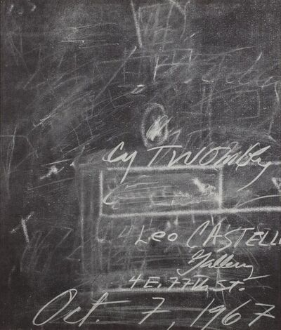 Cy Twombly, 'Solo exhibition', 1967