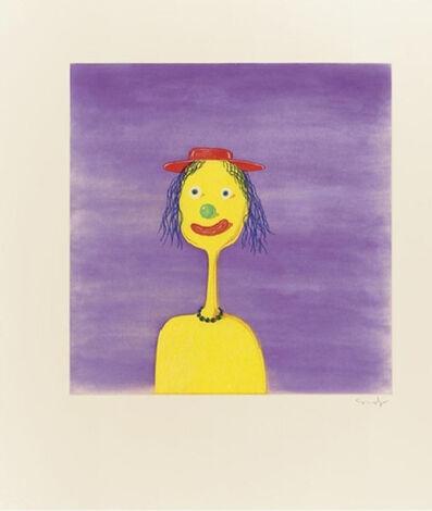 George Condo, 'Clown', 1989