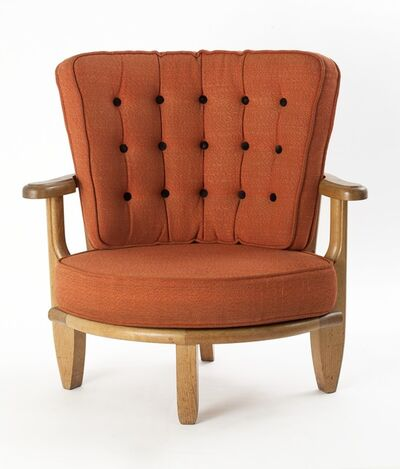 Guillerme et Chambron, 'Rounded Armchair', ca. 1960
