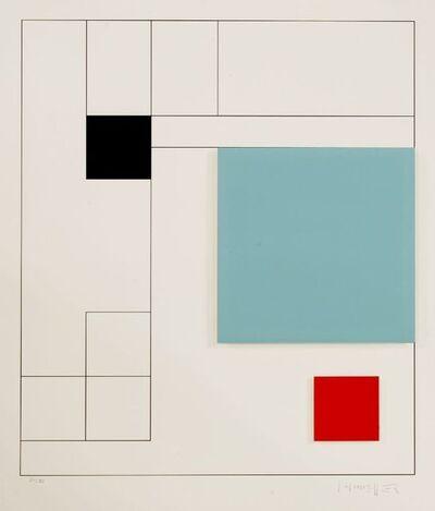 Gottfried Honegger, 'COMPOSITION (BLACK, LIGHT BLUE, RED)', 2015