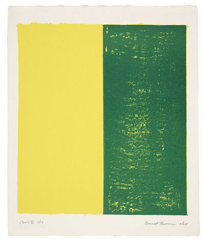 Barnett Newman, 'Canto XI', 1964