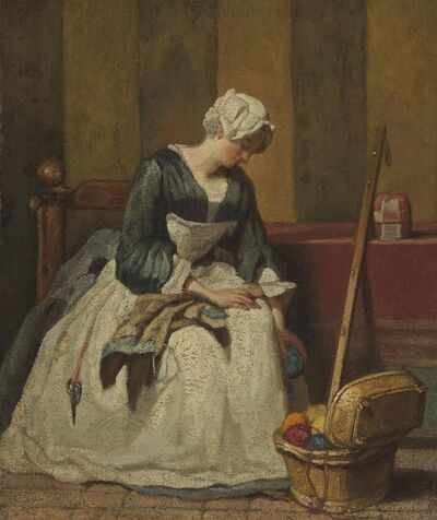 Jean-Siméon Chardin, 'The Embroiderer', ca. 1733-1735