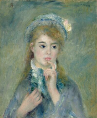 Pierre-Auguste Renoir, 'Portrait of a Young Woman (L'Ingenue)', ca. 1874