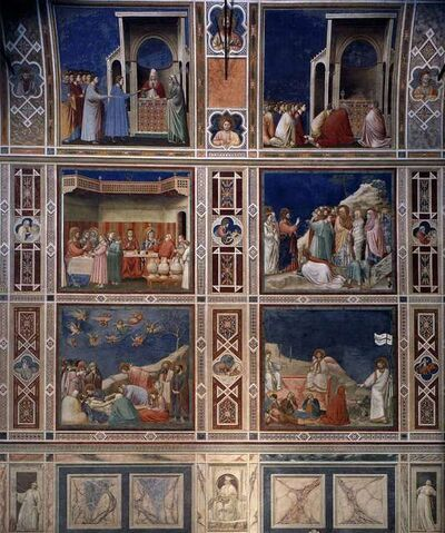 Giotto, 'Frescoes on north wall of Scrovegni (Arena) Chapel', 1305-1306