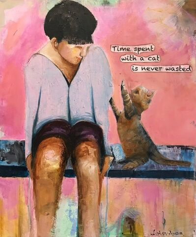 JoAnn Augur, 'Time Spent with a Cat', 2018