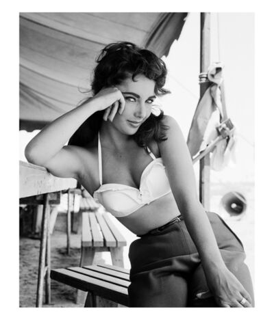 Frank Worth, 'Liz Taylor on the Set of Giant', 1957