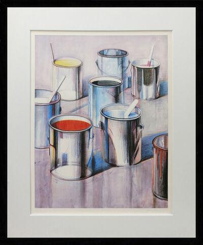 Wayne Thiebaud, 'PAINT CANS', 1990