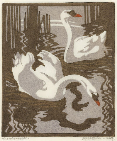 Norbertine Bresslern-Roth, 'Swans (Mute Swans)', 1931