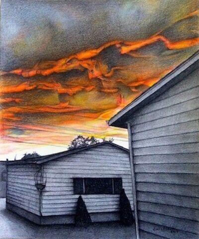 Darrell Windjack, 'Blazing skies ', 2017