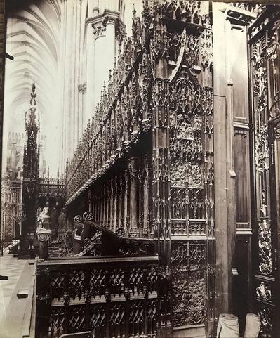 Eugène Atget, 'Stalles du choeur, Cathédrale d'Amiens, (Choir Stalls, Amiens Cathedral)', ca. early 1900s