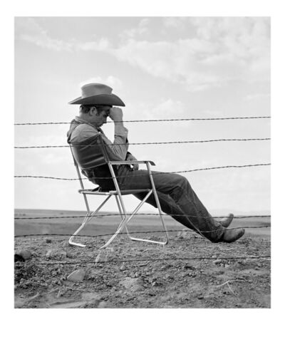 Frank Worth, 'James Dean seated behind a Fence'