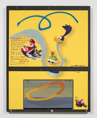 Yung Jake, 'roadrunner (w mario, princess peach, diddy kong and wolverine)', 2017