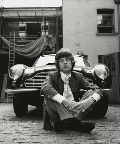 Gered Mankowitz, 'Mick and Aston Martin, 1966', 1966