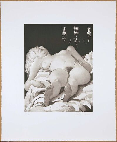 John Currin, 'Nude on a Table', 2002