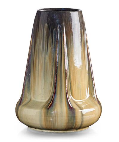 Fulper Pottery, 'Buttressed vase, Cat's Eye flambé glaze, Flemington, NJ', 1910s