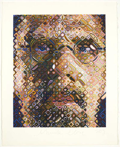 Chuck Close, 'Self-Portrait, Woodcut', 2009
