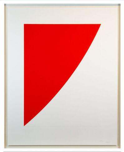 Ellsworth Kelly, 'Red Curve (Radius of 8)', 1975