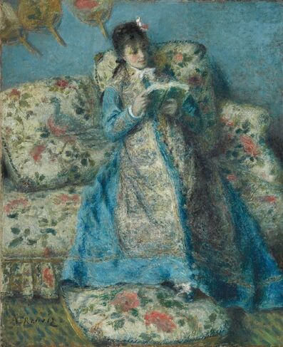 Pierre-Auguste Renoir, 'Portrait of Madame Monet (Madame Claude Monet Reading', ca. 1874