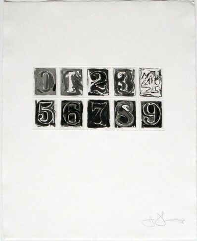 Jasper Johns, '0-9 (ULAE 155)', 1975