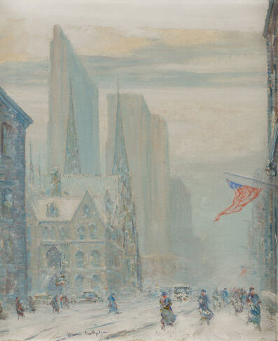 Johann Berthelsen, '51st Street Looking West to St. Patrick's Cathedral/Cardinal's House'