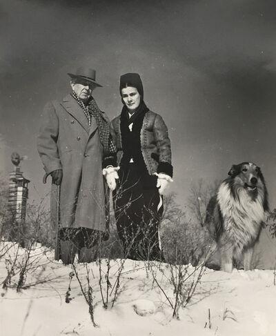 Pedro E. Guerrero, 'Frank Lloyd Wright and Mrs. Wright and Twip', 1940