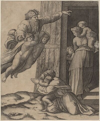 Marcantonio Raimondi after Raphael, 'God Appearing to Noah'