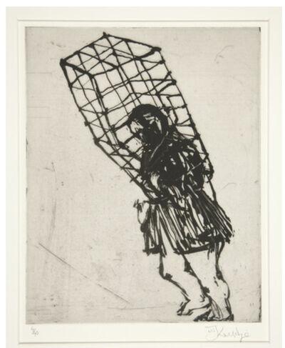 William Kentridge, 'Caged Woman (Zeno at 4 a.m.)', 2001
