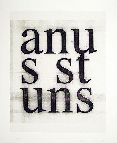 Christopher Wool, 'Anus Stuns', 2008