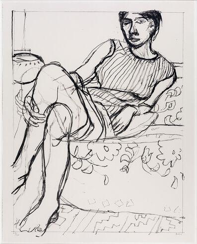 Richard Diebenkorn, 'Seated Woman in Striped Dress', 1965