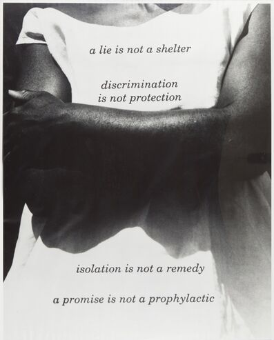 Lorna Simpson, 'Untitled (A lie is not a shelter)', 1989