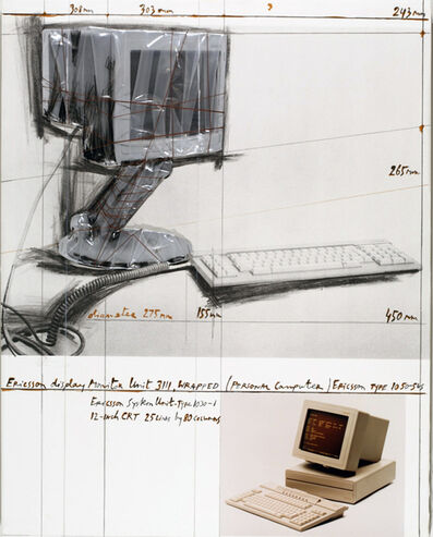 Christo, 'Ericsson Display Monitor Unit 3111, Wrapped Project for Personal Computer', 1985