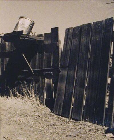 Wright Morris, 'Fence and Garbage Pail, Pomona', 1936