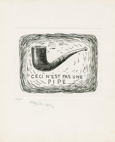 René Magritte, 'Ceci n'est pas une pipe / L'air et le chanson', 1962