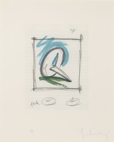 Claes Oldenburg, 'Sketch for a Sculpture in the Form a  Steel Tack', 1981