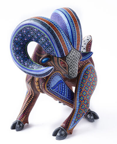 Manuel Cruz Prudencio, 'Carnero Azul / Woodcarving Alebrije Mexican Folk Art Sculpture', 2017