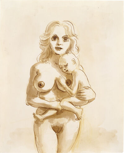 John Currin, 'Woman with child', 1994