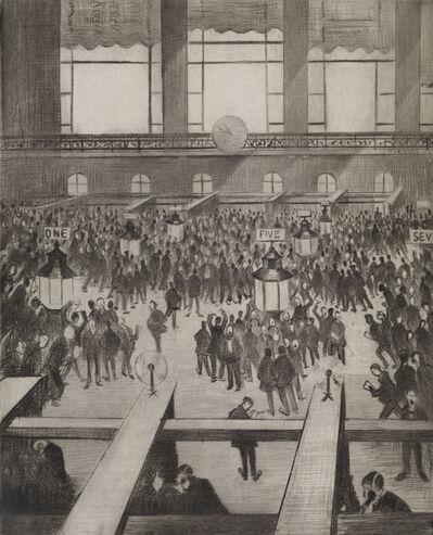 Christopher Richard Wynne Nevinson, 'New York Stock Exchange', 1921