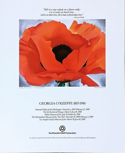 Georgia O'Keeffe, 'Georgia O'Keeffe 1887 - 1986 with Friendship Quote', 1987